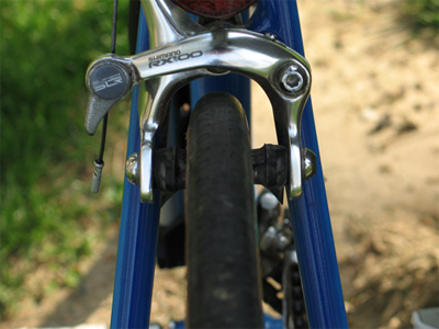 Picture of the brakes of the Cannondale SR400