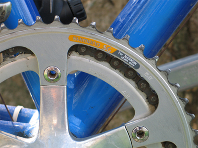 Picture of the drive train of the Cannondale SR400