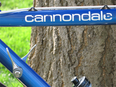 Picture of the tube of the Cannondale SR400