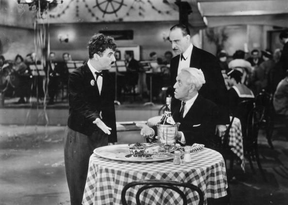 Chaplin as a waiter in Modern Times