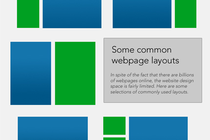 Common webpage layouts