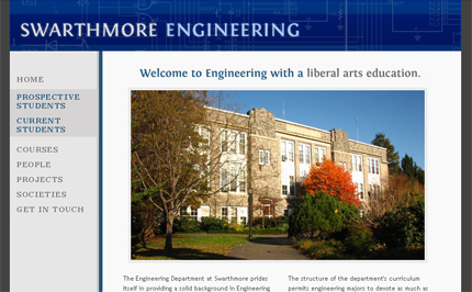 The Engineering website before relaunch