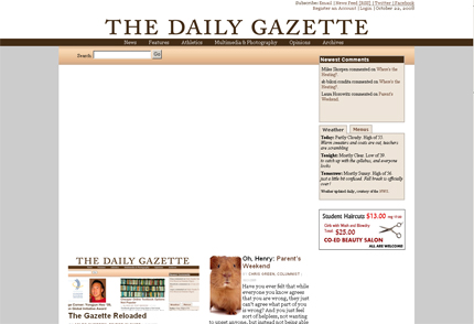 Firefox2 view of Daily Gazette