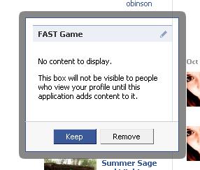No content to display error on Facebook Profile tab