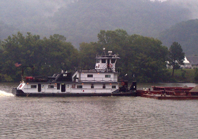 The M/V Cahaba has been rechristened as the Capt. Ed Harris and runs up and down West Virginia