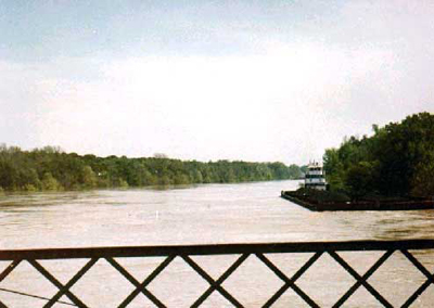 The M/V Cahaba at a distance